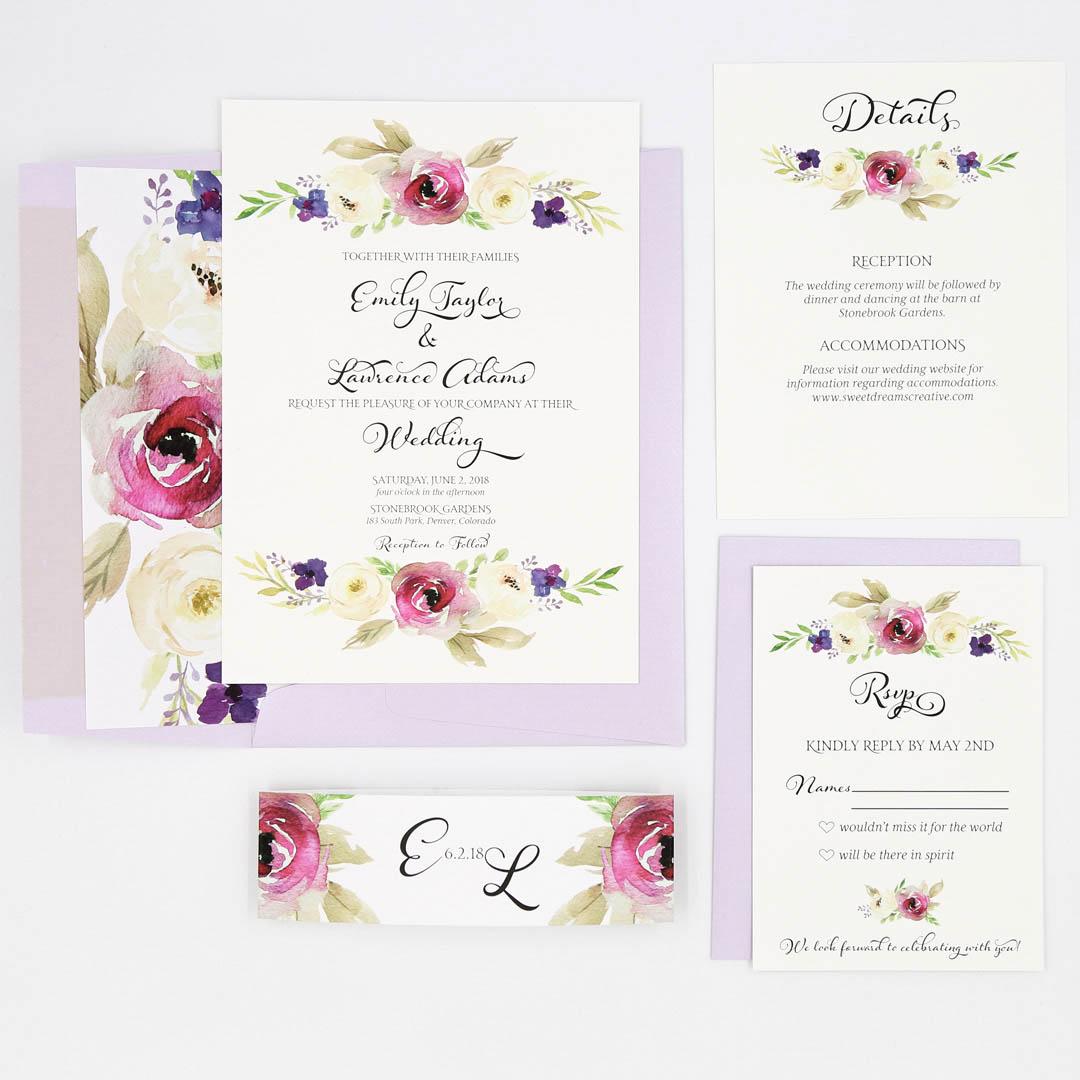 Purple Invitation Suite