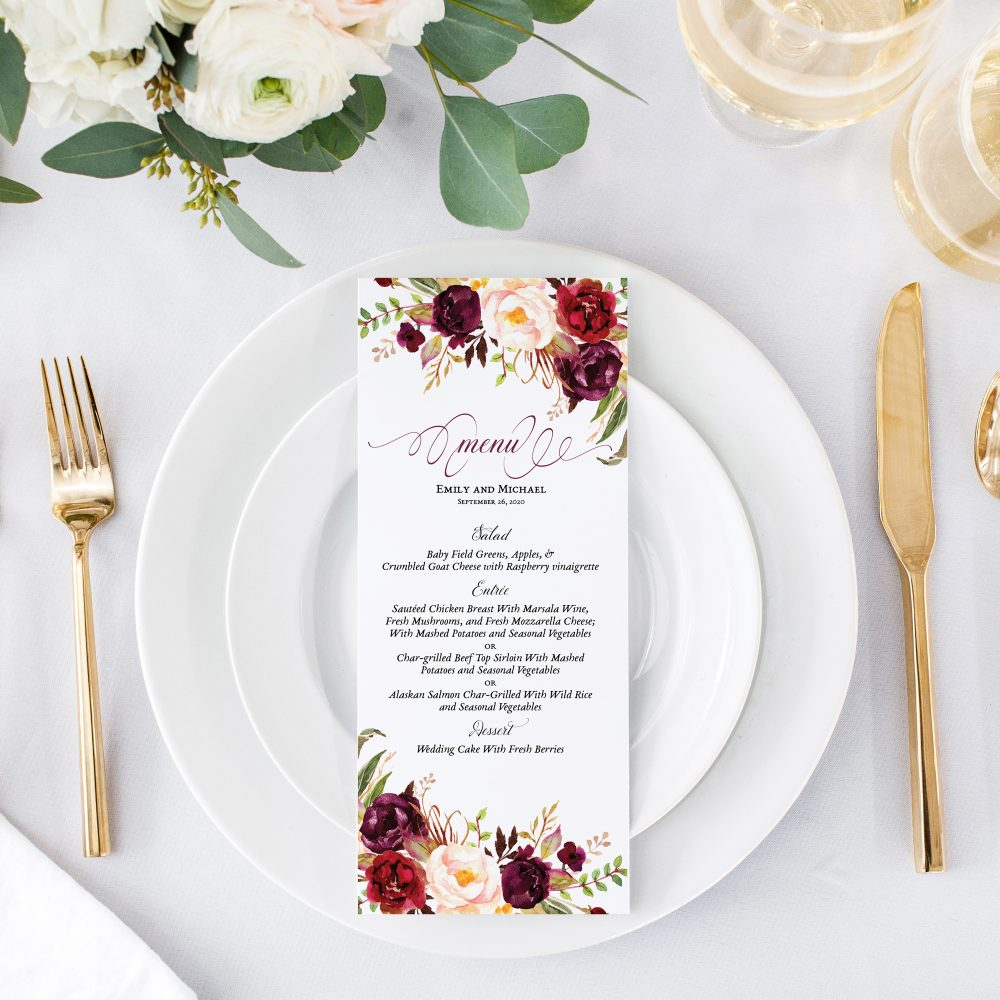 burgundy-floral-menu