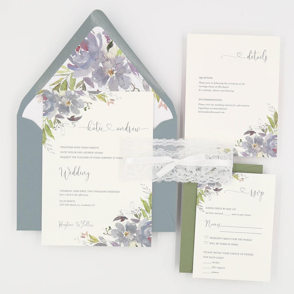 blue wedding cards